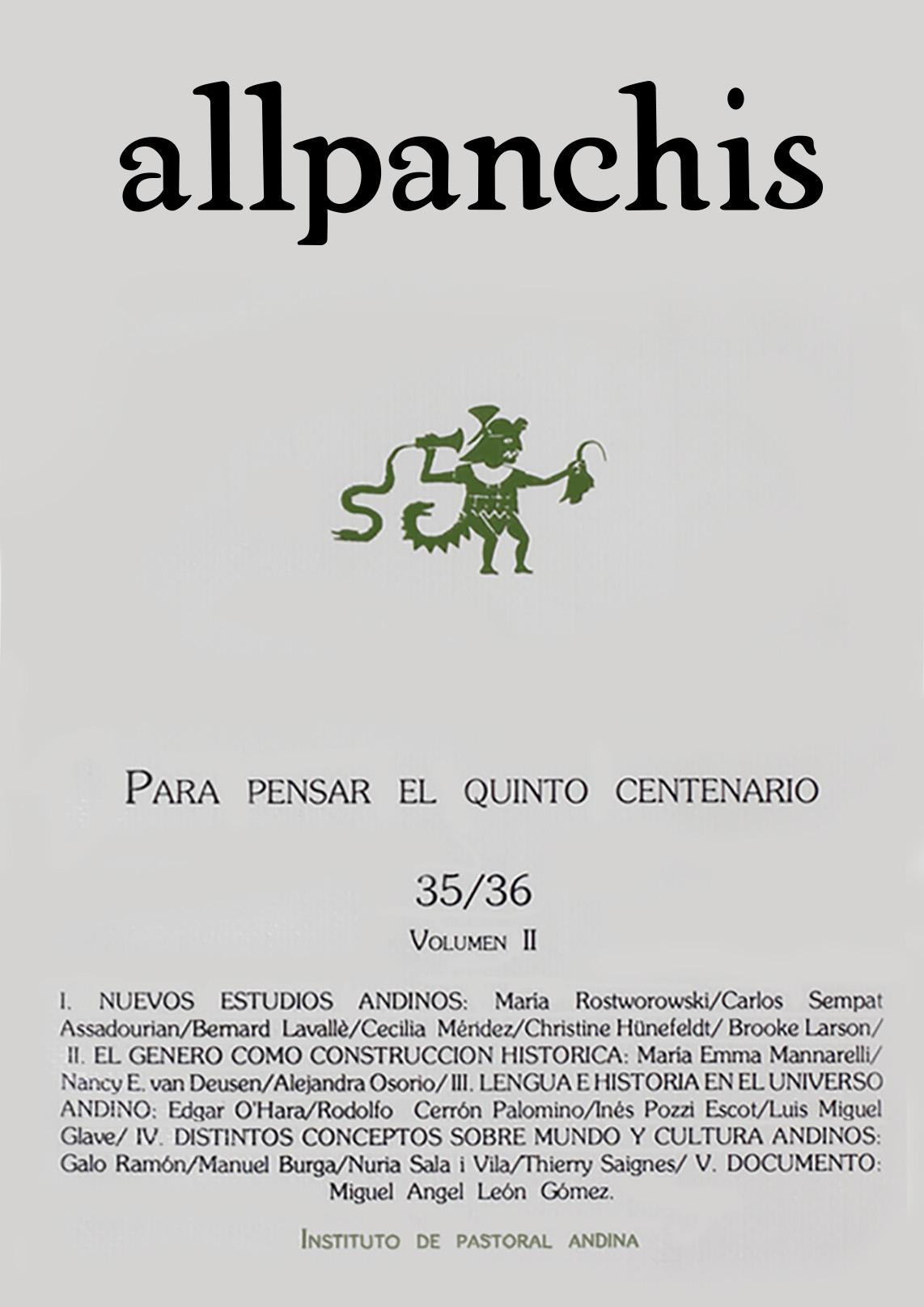 Allpanchis 35/36 (volumen II)