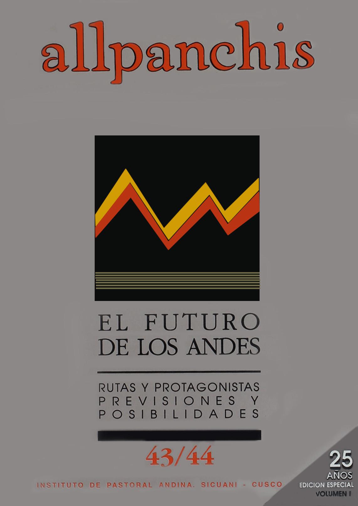 Allpanchis 43/44, vol. 1 (carátula)